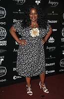 Kym Mazelle at the 2018 Gumball 3000 Rally launch party, Proud Embankment, Victoria Embankment, London, England, UK, on Saturday 04 August 2018.<br /> CAP/CAN<br /> &copy;CAN/Capital Pictures