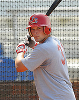 August 1, 2009: Catcher Travis Tartamella (31) of the Johnson City Cardinals, rookie Appalachian League affiliate of the St. Louis Cardinals, in a game at Howard Johnson Field in Johnson City, Tenn. Photo by: Tom Priddy/Four Seam