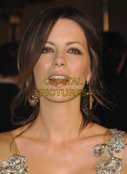 "KATE BECKINSALE.attends The Warner Independent's L.A. Premiere of ""Snow Angels"" held at The Egyptian Theatre in Hollywood, California, USA, February 28th 2008.                                                                     .portrait headshot earrings.CAP/DVS.?Debbie VanStory/Capital Pictures"