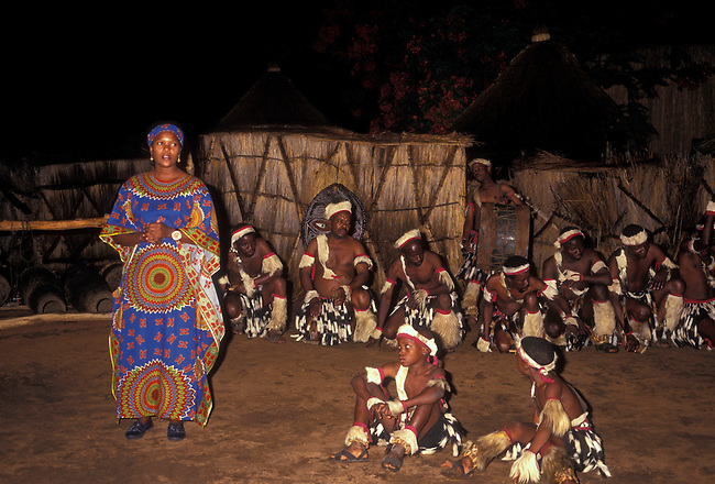 Tribeswoman, Victoria Falls, Matabeleland North Province, Zimbabwe, Africa