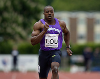 18 MAY 2008 - LOUGHBOROUGH, UK - 100m - Harry Aikines Aryeetey - Loughborough International Athletics. (PHOTO (C) NIGEL FARROW)