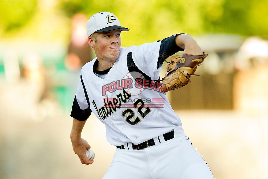 Providence Panthers starting pitcher Ty Buttrey #22 in action against the Butler Bulldogs at Providence High School on April 24, 2012 in Charlotte, North Carolina.  (Brian Westerholt/Four Seam Images)