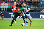 Nederland, Nijmegen, 26 september  2012.Seizoen 2012-2013.KNVB beker.NEC-Feyenoord.Evander Sno van NEC in duel om de bal met Daryl Janmaat van Feyenoord