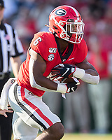 ATHENS, GA - SEPTEMBER 7: Kenny McIntosh #6 makes a run during a game between Murray State Racers and University of Georgia Bulldogs at Sanford Stadium on September 7, 2019 in Athens, Georgia.