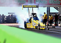 Sept. 21, 2013; Ennis, TX, USA: NHRA top fuel dragster driver Morgan Lucas during the Fall Nationals at the Texas Motorplex. Mandatory Credit: Mark J. Rebilas-