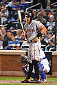 Hunter Pence (Giants),<br /> OCTOBER 5, 2016 - MLB :<br /> Hunter Pence of the San Francisco Giants at bat in the fourth inning during the National League Wild Card Game against the New York Mets at Citi Field in Flushing, New York, United States. (Photo by Hiroaki Yamaguchi/AFLO)