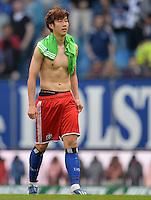 FUSSBALL   1. BUNDESLIGA   SAISON 2012/2013    32. SPIELTAG Hamburger SV - VfL Wolfsburg          05.05.2013 Heung Min Son (Hamburger SV)  ist nach dem Abpfiff enttaeuscht