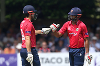 Alastair Cook (L) and Varun Chopra of Essex during Essex Eagles vs Notts Outlaws, Royal London One-Day Cup Semi-Final Cricket at The Cloudfm County Ground on 16th June 2017