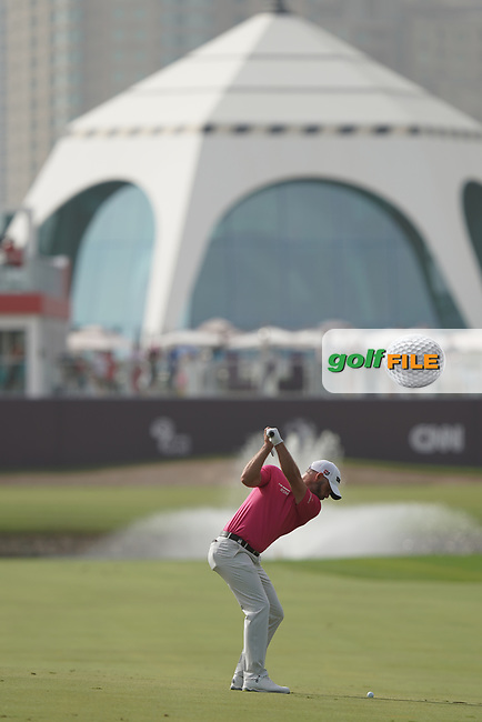 Paul Waring (ENG) on the 18th fairway in action during the second round of the Omega Dubai Desert Classic, Emirates Golf Club, Dubai, UAE. 25/01/2019<br /> Picture: Golffile | Phil Inglis<br /> <br /> <br /> All photo usage must carry mandatory copyright credit (© Golffile | Phil Inglis)