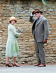 filming series four of Downton Abbey in Brampton Village, Oxfordshire on the 7th August 2013