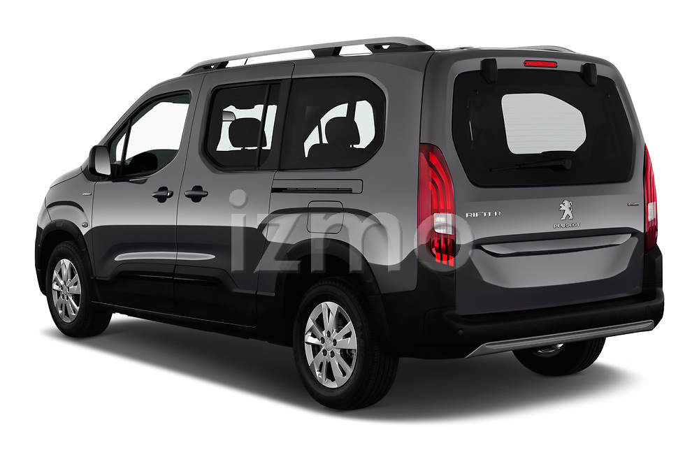 Car pictures of rear three quarter view of a 2019 Peugeot Rifter GT-Line 5 Door MPV angular rear