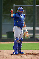 Kansas City Royals Chase Vallot (3) during an instructional league intersquad game on October 21, 2015 at the Papago Baseball Facility in Phoenix, Arizona.  (Mike Janes/Four Seam Images)