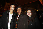 All My  Children and Another World Ruben Santiago-Hudson poses with his son Trey and daughter Lily as he is in Broadway's Stick Fly at the Cort Theatre, New York City, New York with after party at 48 Lounge with Alicia Keys and cast - Ruben Santiago-Hudson, Phylicia Rahad (Santa Barbara and OLTL) - mom of Condola (in cast) along with Tracie Thoms, Dulle Hill (Psych), Mekhi Phifer. (Photo by Sue Coflin/Max Photos)