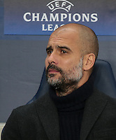 Manchester City Manager (Head Coach) Josep Guardiola during the UEFA Champions League GROUP match between Manchester City and Celtic at the Etihad Stadium, Manchester, England on 6 December 2016. Photo by PRiME Media Images.