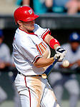 11 March 2006: Brendan Harris, infielder for the Washington Nationals, at bat during a Spring Training game against the Los Angeles Dodgers. The Nationals defeated the Dodgers 2-1 in 10 innings at Space Coast Stadium, in Viera, Florida...Mandatory Photo Credit: Ed Wolfstein.