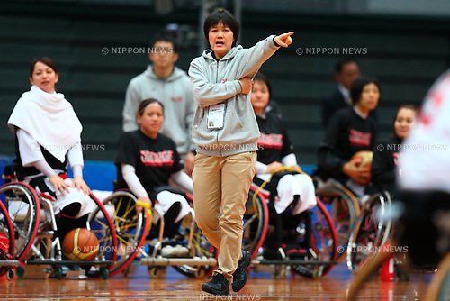 Tachibana Kaori (Japan),<br /> FEBRUARY 14, 2015 - Wheelchair Basketball : <br /> 2015 International Women's Wheelchair Basketball Friendship Games OSAKA CUP<br /> Gold Medal Match between Japan 59-42 Great Britain<br /> at Osaka Municipal Central Gymnasiium in Osaka, Japan. <br /> (Photo by Shingo Ito/AFLO SPORT) [1195]