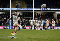 Toronto Wolfpack's Gareth O'Brien kicks a conversion<br /> <br /> Photographer Alex Dodd/CameraSport<br /> <br /> Betfred Super League Round 6 - Leeds Rhinos v Toronto Wolfpack - Thursday 5th March 2020 - Headingley - Leeds<br /> <br /> World Copyright © 2020 CameraSport. All rights reserved. 43 Linden Ave. Countesthorpe. Leicester. England. LE8 5PG - Tel: +44 (0) 116 277 4147 - admin@camerasport.com - www.camerasport.com