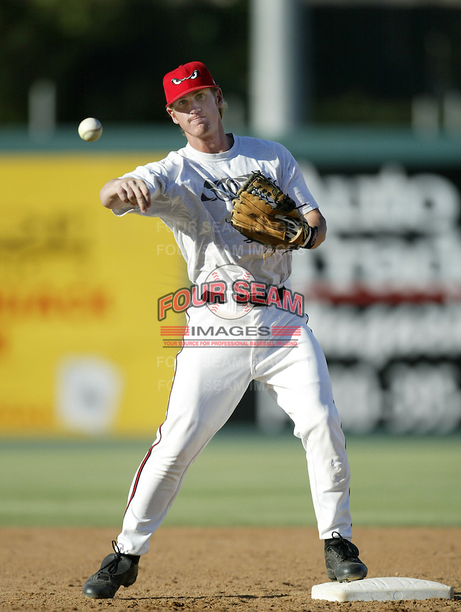 Khalil Greene of the Lake Elsinore Storm before a California League 2002 season game at The Diamond, in Lake Elsinore, California. (Larry Goren/Four Seam Images)