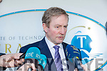 Taoiseach Enda Kenny TD attend the launch of the €16.5m sports academy at ITT North Campus on Monday.  Taoiseach Enda Kenny meeting the Press