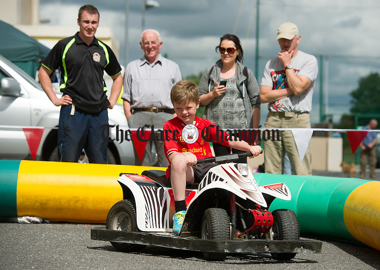 Shay Kelly of Galway speeds around at Gort Show. Photograph by John Kelly.