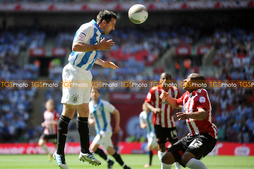 Danny Ward of Huddersfield Town has a shot on goal - Huddersfield Town vs Sheffield United - nPower League One Promotion Play-Off Final at Wembley Stadium, London - 26/05/12 - MANDATORY CREDIT: Anne-Marie Sanderson/TGSPHOTO - Self billing applies where appropriate - 0845 094 6026 - contact@tgsphoto.co.uk - NO UNPAID USE.