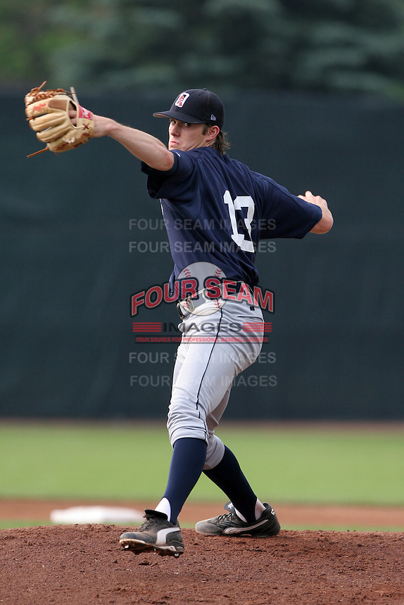 Oneonta Tigers Jeff Gerbe during a NY-Penn League game at Russell Diethrick Park on July 9, 2006 in Jamestown, New York.  (Mike Janes/Four Seam Images)