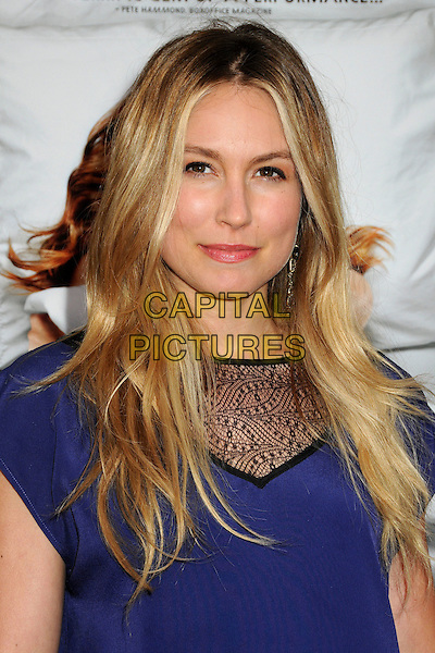 "Sarah Carter.attends the L.A. Premiere of ""A Little Help"" held at Sony Pictures Studios in Culver City, California, USA..July 14th, 2011.headshot portrait blue black lace panel.CAP/ADM/BP.©Byron Purvis/AdMedia/Capital Pictures."