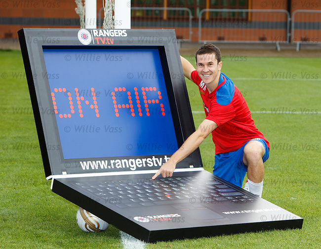 Matt McKay promoting the Rangers TV online stuff