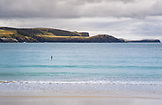 NEW ZEALAND, The Catlins, Lone Paddleboarder in Porpoise Bay, Ben M Thomas