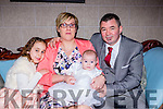 Roisin Cronin-Sheehy Deerpark Close Killarney celebrated her christening with her parents Aine Cronin, and Christopher Sheehy and big sister Sorcha Cronin in the Killarney Avenue Hotel on Saturday