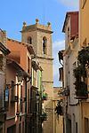 Historic church and houses village of Benimaurell, Vall de Laguar, Marina Alta, Alicante province, Spain