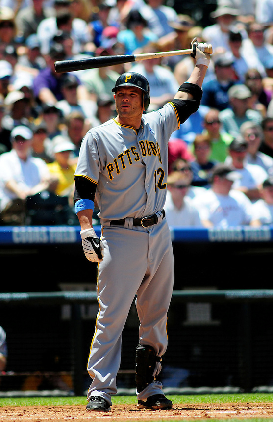 June 21, 2009: Pirates 2nd baseman Freddy Sanchez during a game between the Pittsburgh Pirates and the Colorado Rockies at Coors Field in Denver, Colorado. The Rockies beat the Pirates 5-4, to improve to 16-1 in the last 17 games.
