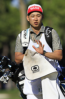 Jeunghun Wang (KOR) caddy on the 7th green during Saturday's Round 3 of the 2018 Turkish Airlines Open hosted by Regnum Carya Golf &amp; Spa Resort, Antalya, Turkey. 3rd November 2018.<br /> Picture: Eoin Clarke | Golffile<br /> <br /> <br /> All photos usage must carry mandatory copyright credit (&copy; Golffile | Eoin Clarke)