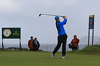 Lucas Bjerregaard (DEN) on the 11th tee during 1st round of the 148th Open Championship, Royal Portrush golf club, Portrush, Antrim, Northern Ireland. 18/07/2019.<br /> Picture Thos Caffrey / Golffile.ie<br /> <br /> All photo usage must carry mandatory copyright credit (© Golffile | Thos Caffrey)