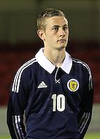 John Herron in the Scotland v Armenia UEFA European Under-19 Championship Qualifying Round match at New Douglas Park, Hamilton on 9.10.12.