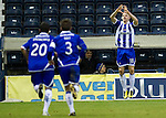 Kilmarnock v St Johnstone....15.01.11  .Conor Sammon celebrates his goal.Picture by Graeme Hart..Copyright Perthshire Picture Agency.Tel: 01738 623350  Mobile: 07990 594431