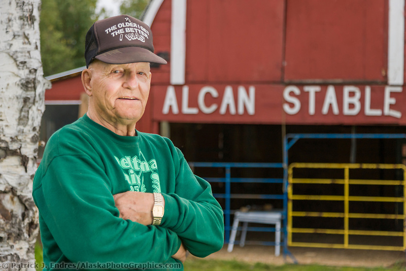 83 year old, long time Alaska resident Hank Dube, Delta Junction, Alaska.