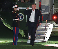 Donald Trump Returns from New Jersey