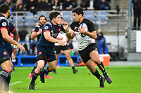 (R-L)  Rieko Ioane of New Zealand and Anthony Belleau of France during the test match between France and New Zealand at Stade de France on November 11, 2017 in Paris, France. (Photo by Dave Winter/Icon Sport)