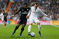 Real Madrid´s Spanish forward Jesé Rodriguez and Paris Saint Germain´s defense Serge Aurier