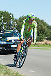 SITTARD, NETHERLANDS - AUGUST 16: Maciej Bodnar of Poland riding for Cannondale Pro Cycling competes during stage 5 of the Eneco Tour 2013, a 13km individual time trial from Sittard to Geleen, on August 16, 2013 in Sittard, Netherlands. (Photo by Dirk Markgraf/www.265-images.com)