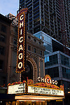 The Chicago Theater in downtown, Chicago, Illinois, USA, February 18, 2007