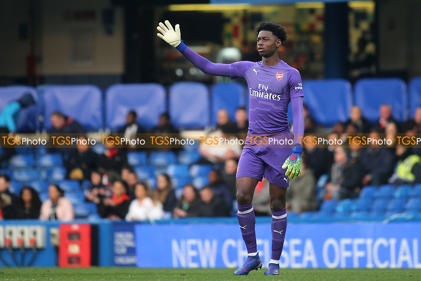 Arsenal goalkeeper, Arthur Okonkwo during Chelsea Under-23 vs Arsenal Under-23, Premier League 2 Football at Stamford Bridge on 15th April 2019