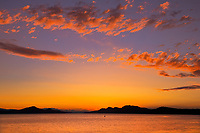 Sunset on Lyall Harbour (Plumper Sound), Saturna Island, British Columbia, Canada