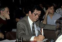 FILE - Camille Laurin au congres de fondation duRassemblement Democratique pour l'Independande<br />  (RDI), le 30 mars 1985