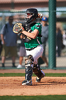 Kenny Tanaka (17) of Oaks Christian High School in Thousand Oaks, California during the Baseball Factory All-America Pre-Season Tournament, powered by Under Armour, on January 14, 2018 at Sloan Park Complex in Mesa, Arizona.  (Zachary Lucy/Four Seam Images)