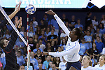 10 September 2015: North Carolina's Victoria McPherson. The University of North Carolina Tar Heels hosted the Stanford University Cardinal at Carmichael Arena in Chapel Hill, NC in a 2015 NCAA Division I Women's Volleyball contest. North Carolina won the match 25-17, 27-25, 25-22.
