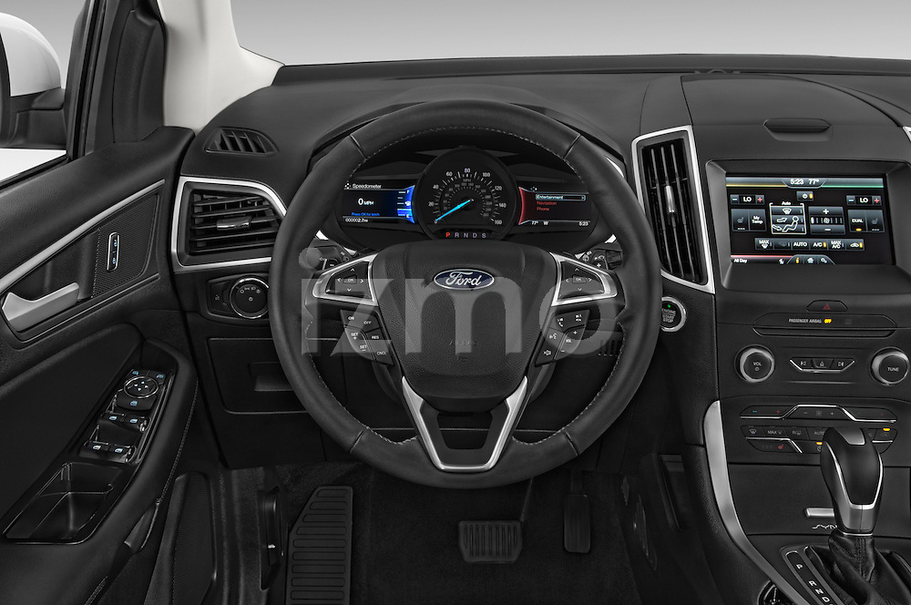 Car pictures of steering wheel view of a 2015 Ford Edge Titanium 5 Door SUV Steering Wheel