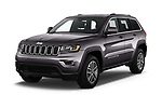2019 JEEP Grand-Cherokee Laredo-E 5 Door SUV Angular Front stock photos of front three quarter view