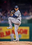 23 May 2017: Seattle Mariners starting pitcher Christian Bergman on the mound in the first inning against the Washington Nationals on a rainy day at Nationals Park in Washington, DC. The Nationals defeated the Mariners 10-1 to take the first game of their inter-league series. Mandatory Credit: Ed Wolfstein Photo *** RAW (NEF) Image File Available ***